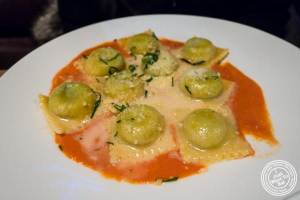 Spinach ravioli at Lugo Cucina in NYC, NY