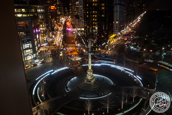 View of Columbus Circle at Robert in The Museum of Art and Design, NYC, NY