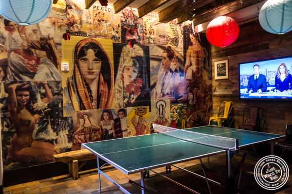 Game room at Salvation Taco in NYC, NY