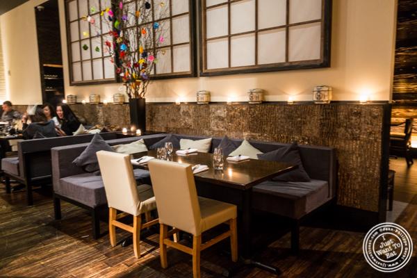 Main dining room at ROKI Le Izakaya in NYC, NY