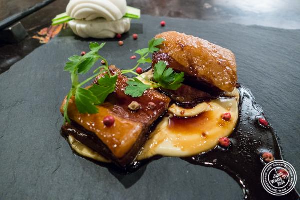 Pork belly and mayo at ROKI Le Izakaya in NYC, NY