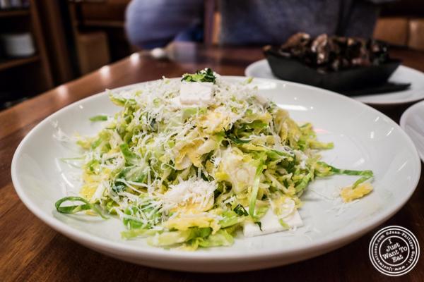 Roasted broccoli salad at Kingside in NYC, NY
