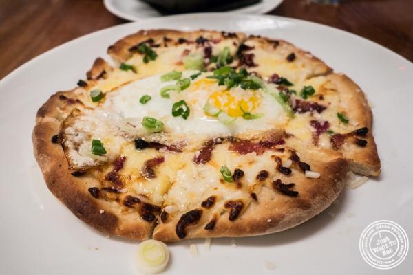 Breakfast pizza at Kingside in NYC, NY