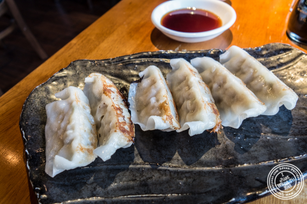 Pork gyoza at Shokudo Sushi and Ramen in Hell's Kitchen