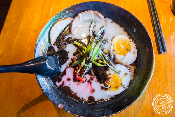 Tonkotsu ramen at Shokudo Sushi and Ramen in Hell's Kitchen