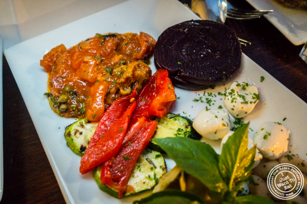 Mezzo platter at Bella Luna on the Upper West Side, NYC, NY
