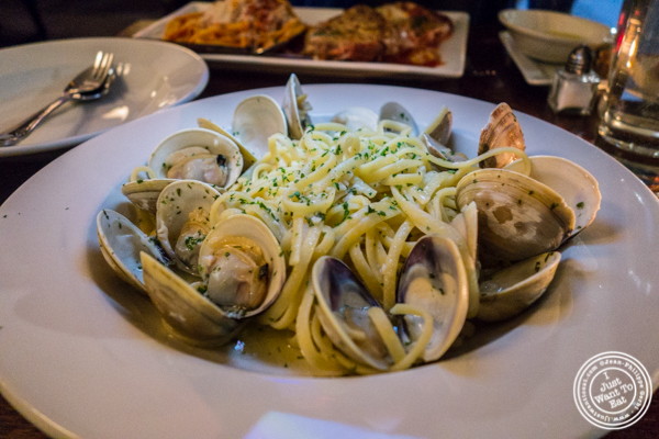 Linguine with clams at Bella Luna on the Upper West Side, NYC, NY