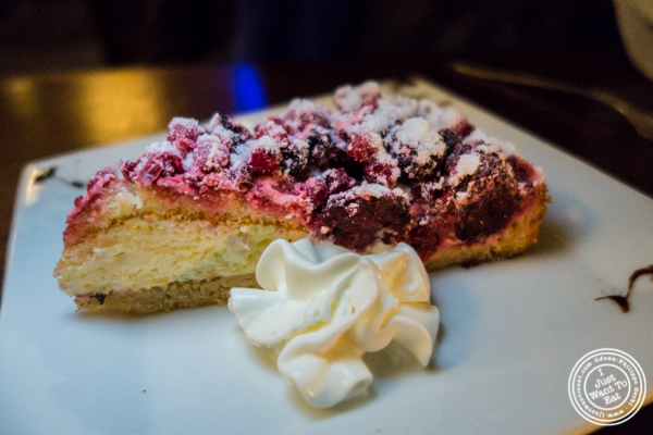 Mixed berries tart at Bella Luna on the Upper West Side, NYC, NY