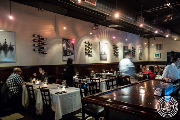 Dining room at Westside Steakhouse in NYC, NY