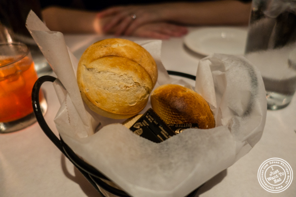 Bread basket at Westside Steakhouse in NYC, NY