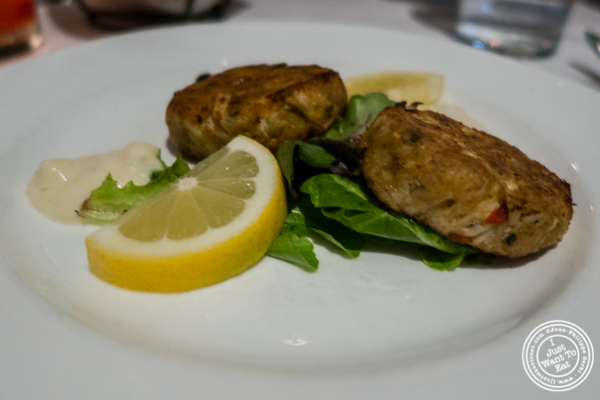 Crab cakes at Westside Steakhouse in NYC, NY