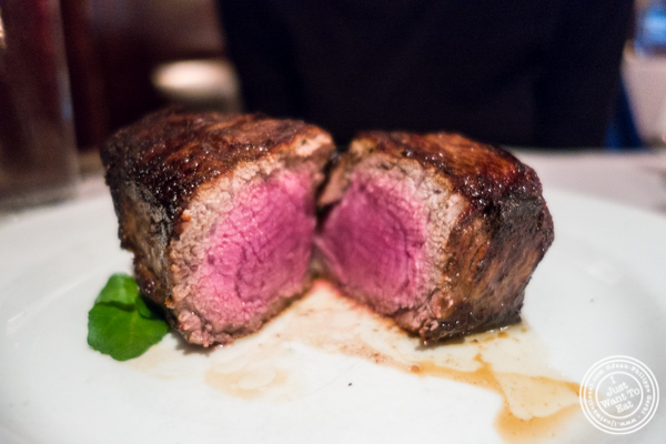Filet mignon at Westside Steakhouse in NYC, NY