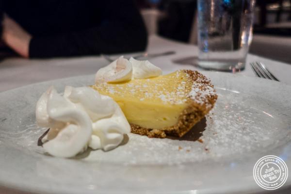 Lemon pie at Westside Steakhouse in NYC, NY