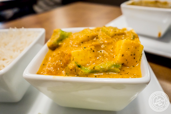 Mi vegetable korma at Chawlas2 in Gramercy, NYC, NY