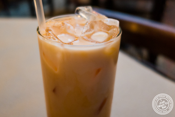 Thai iced tea at Kelley and Ping in Greenwich Village