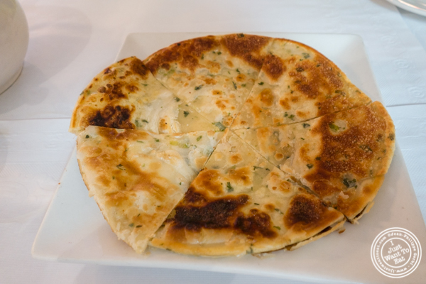 Scallion pancakes at China Green in Hell's Kitchen