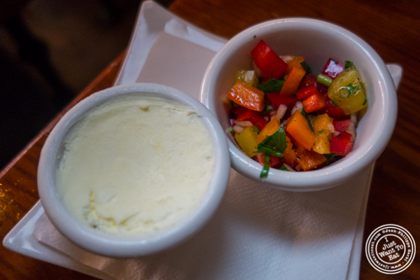 Butter and peppers at Gentleman Farmer in The Lower East Side, NYC