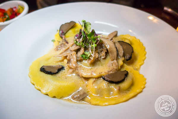 Mushroom ravioli at Gentleman Farmer in The Lower East Side, NYC
