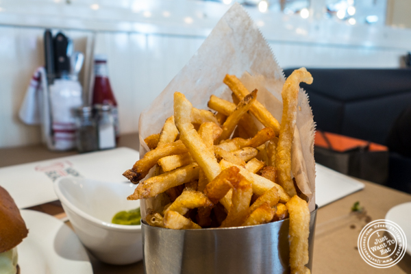 French fries at 5 Napkin Burger on the Upper East Side, NYC