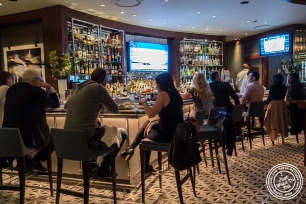 Bar area at Porter House in NYC, NY