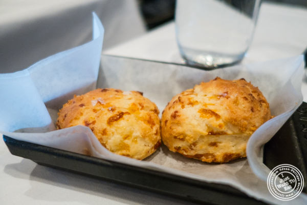Cheese bread at Porter House in NYC, NY