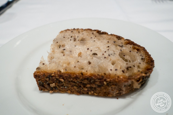 Sourdough bread at Porter House in NYC, NY