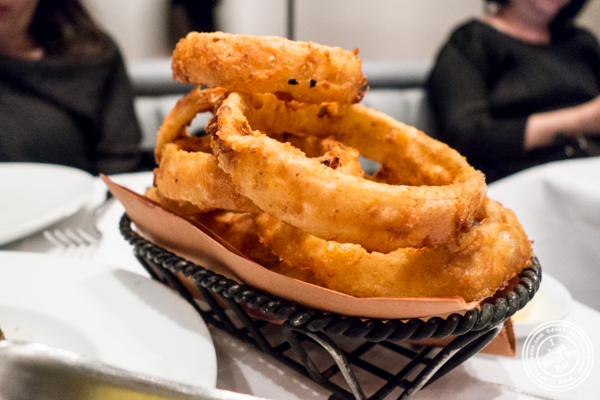 Buttermilk onion rings at Porter House in NYC, NY