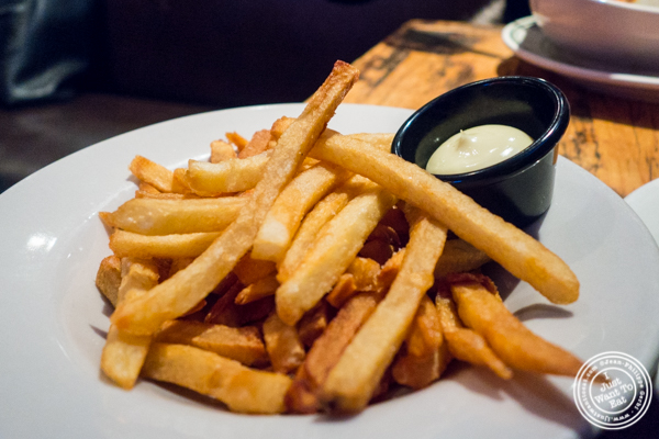 French fries at BXL Cafe in NYC, NY