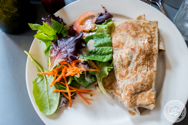 Ham and cheese crepe at Le Grainne Cafe in Chelsea