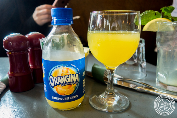 Orangina at Le Grainne Cafe in Chelsea