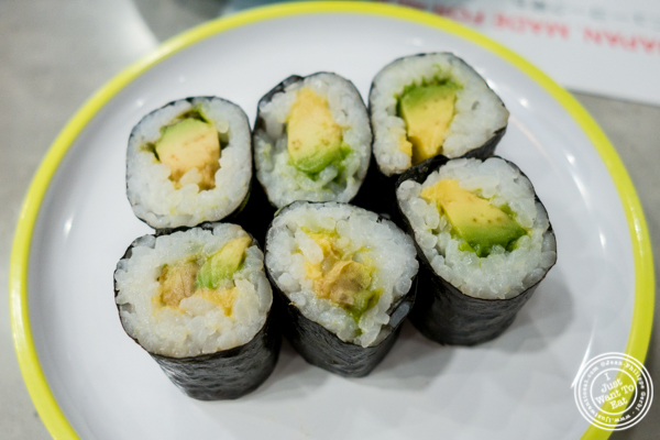 Avocado roll at Yo! Sushi in NYC, NY