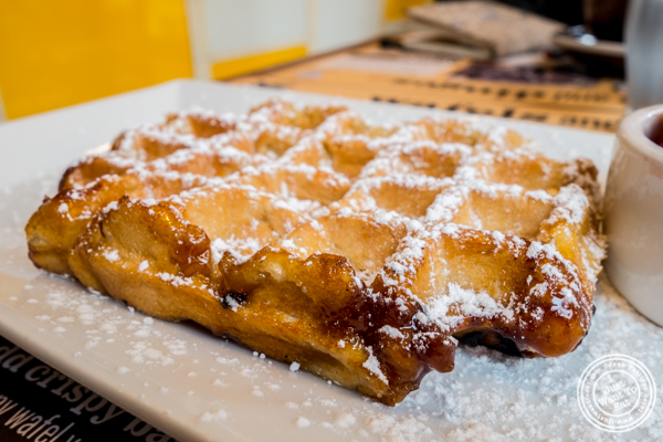 Liege waffle at Wafels and Dinges in the East Village, NYC, NY
