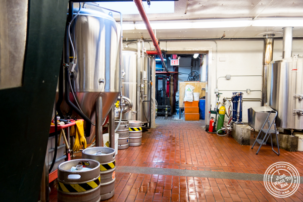 Brewery at The Rockaway Brewing Company in Long Island City