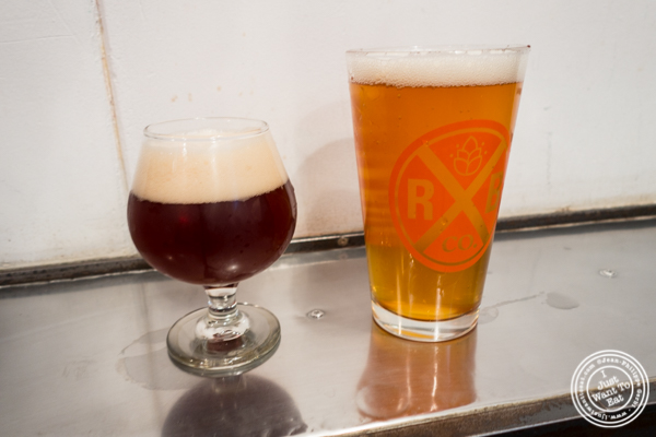 1875 and biere de garde beers at The Rockaway Brewing Company in Long Island City