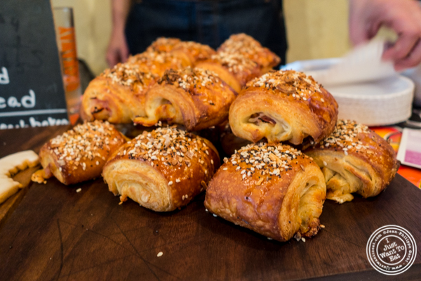 Mini-Everything ham and cheese croissant from Rockaway Beach Bakery