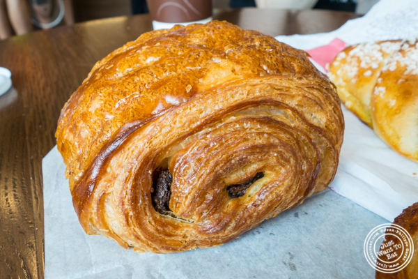 Chocolate croissant at Cannelle Patisserie in Long Island City