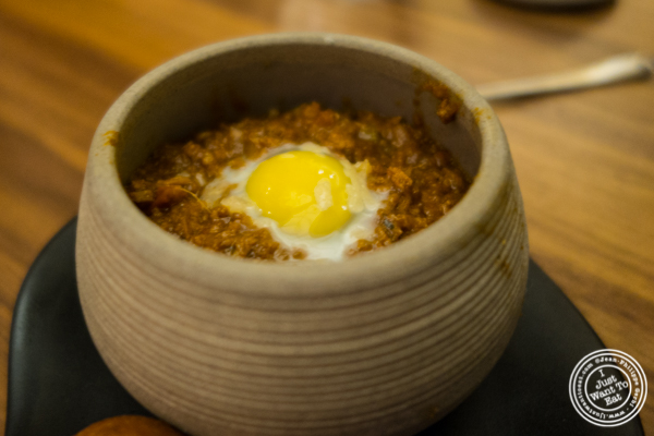 Soy keema at Indian Accent in NYC, NY