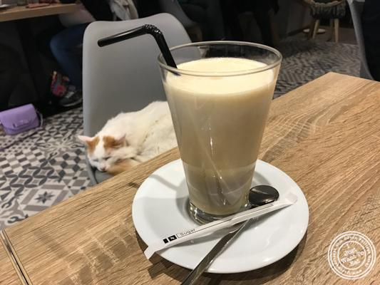 Latte Macchiato at Neko Cafe in Grenoble, France