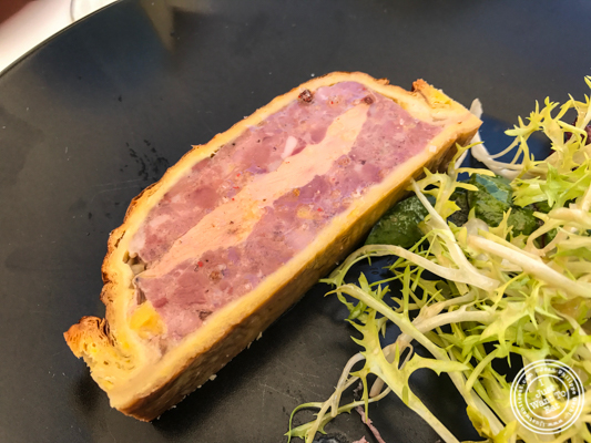 Pate en croute au foie gras at Brasserie of the Imperial Palace in Annecy, France