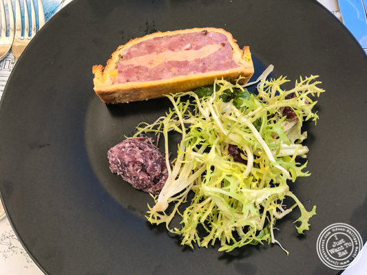 Pate en croute at Brasserie of the Imperial Palace in Annecy, France