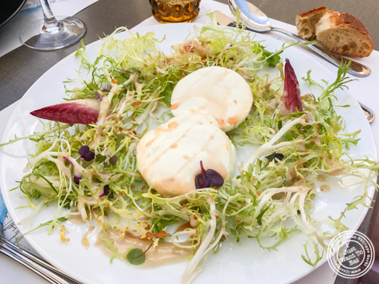 Goat cheese salad at Brasserie of the Imperial Palace in Annecy, France