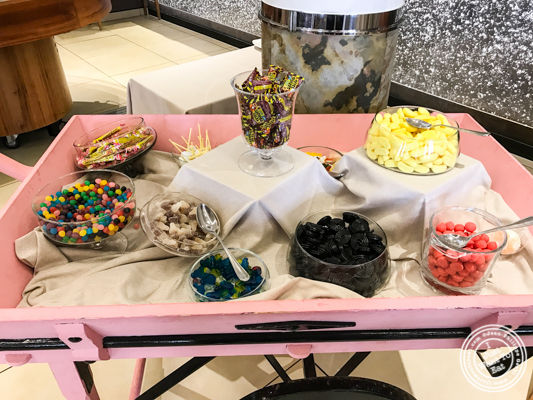 Candy buffet at Brasserie of the Imperial Palace in Annecy, France