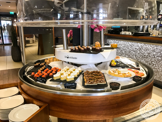 Dessert buffet at Brasserie of the Imperial Palace in Annecy, France