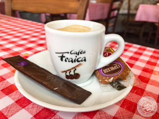 Espresso at La Ferme à Dédé in Sassenage, France