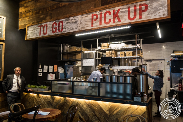 Pick up counter at Mexicue in NYC, New York
