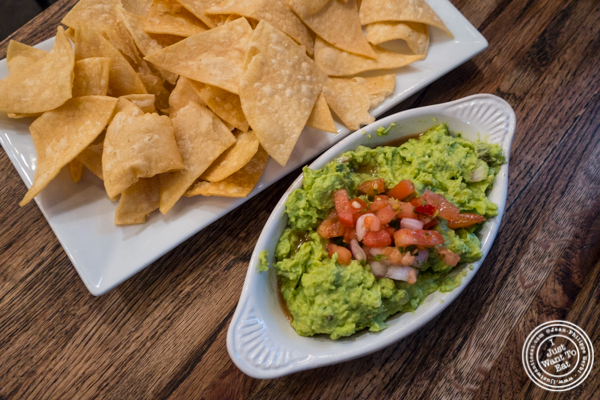Guacamole and chips at Mexicue in NYC, New York
