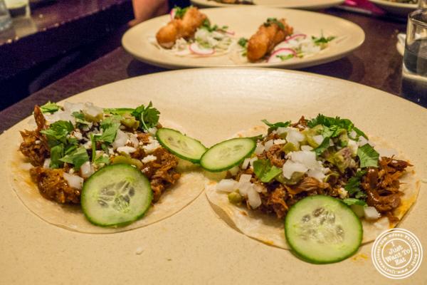 Lamb barbacoa tacos at Empellon Taqueria in NYC, NY