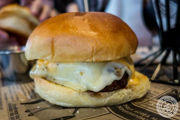 Cheese Lovers burger at Birch Hoboken, NJ