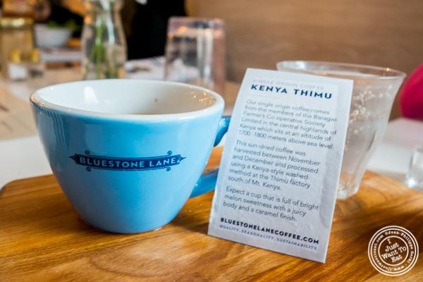 Espresso at Bluestone Lane Coffee in Hoboken, NJ