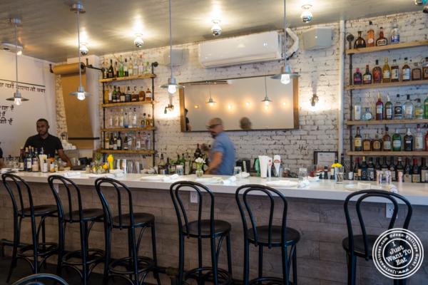 Bar at Badshah Modern Indian in Hell's Kitchen